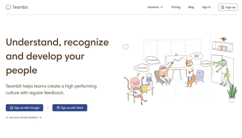 White Space landing page