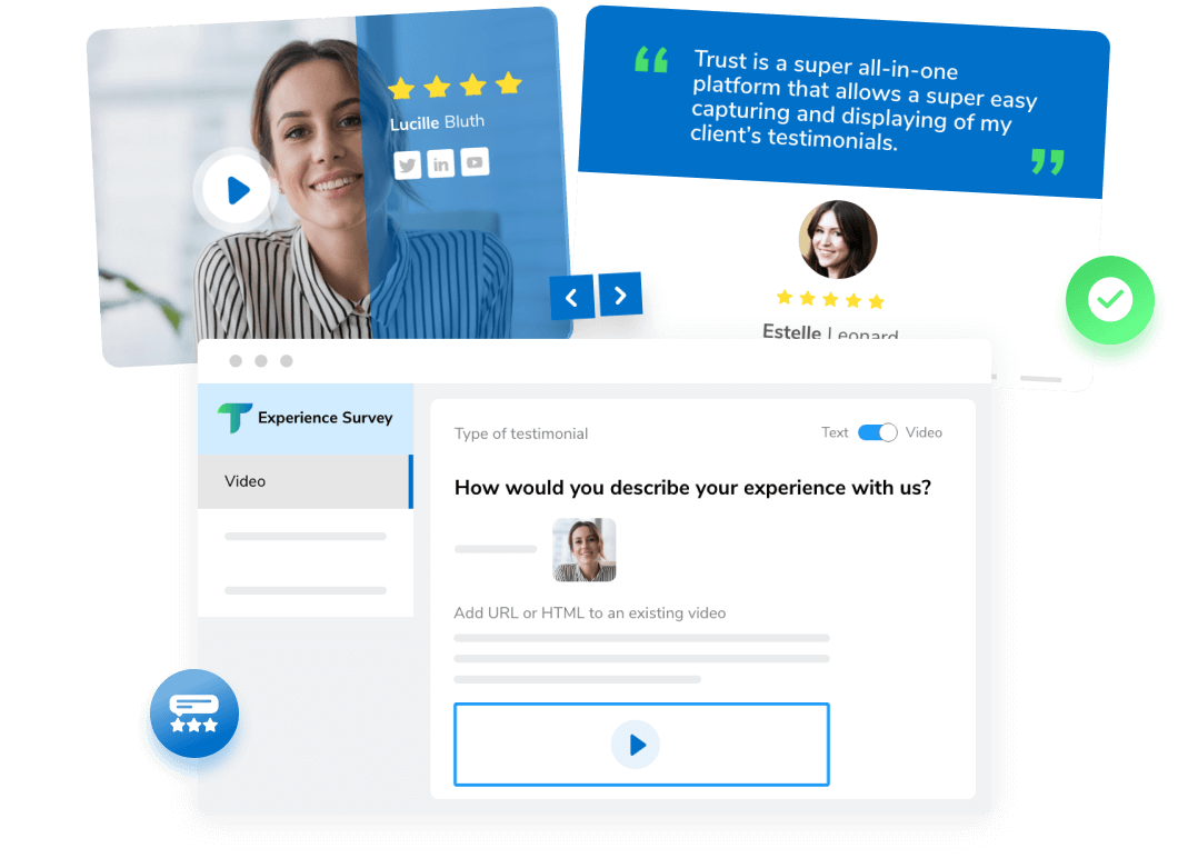Use testimonials and surveys