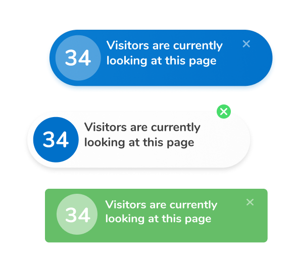 Trust Visitors widget has premade templates to choose from